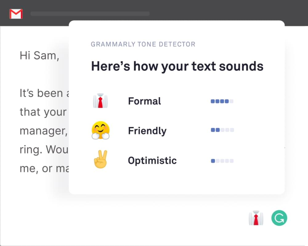 Grammarly Tone Detector